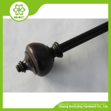 2015 super market good sales resin curtain rod , resin curtain finial