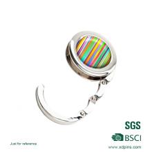 Colgador de bolsas de diamantes con espejo / percha