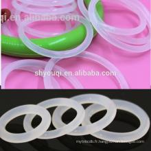 Joints de silicone imperméables résistants à l'usure de VMQ o anneaux Style Soudage instantané de pot o Joint de joint torique plat / plat clair / blanc