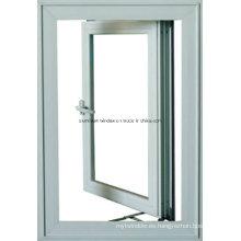 Ventana abatible de aluminio con ventanas de vidrio / aluminio reflejadas (NH50)