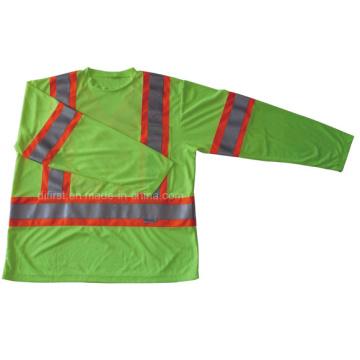 T-shirt de sécurité à haute visibilité à manches longues (DFJ026)