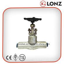 Vanne de porte en acier forgée en acier inoxydable ANSI en acier inoxydable