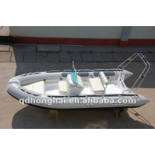 Barco inflável do rib430 superior rígida de fibra de vidro