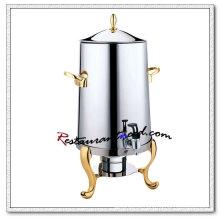 Dispensador de café chapeado em latão de aço inoxidável C130