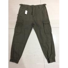 мужские длинные грузовые штаны с резинкой внизу