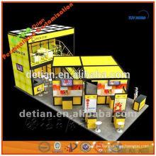 soporte de exhibición modular del soporte de la cabina del doble nivel, cabina para el diseño de la exposición comercial, soporte de exposición barato en Shangai en China