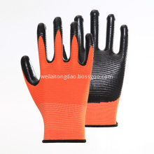 Polyster Nitrile Coated Hand Safety Working Gloves