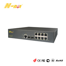Verwalteter 8-Port-PoE-Switch Gigabit