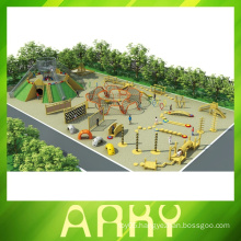 2014 Popular kids commercial fun gym wood outdoor playground