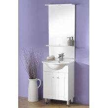 Armário de vaidade de banheiro branco de 60cm (OLW-04)