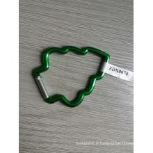Crochet en aluminium d'arbre de Noël avec couleur verte