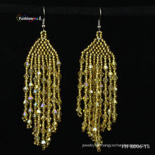 2013 new crystal fashion free seed bead earring designs