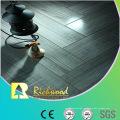 Piso laminado en V-Grooved resistente al agua del roble del espejo de 12.3mm