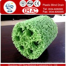 Drenaje ciego de plástico para jardín de techos