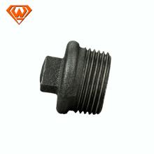 Dimensão preta ISO49 dos encaixes de tubulação do ferro maleável