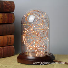 D20xH30 Glass Dome With LED Lights