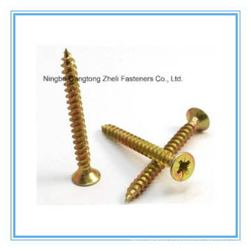 DIN 7505 Yellow Zinc Plated Chipboard Screw