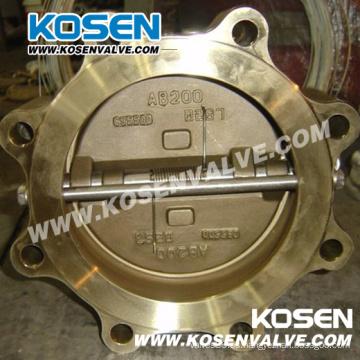 Tipo Lug Válvula de retención de la oblea de bronce de aluminio