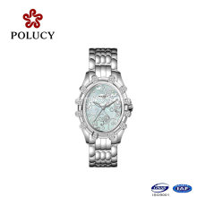 Relojes calientes de las mujeres de la joyería de las piedras de ajuste de los productos del acero inoxidable que venden