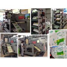 Máquina de impresión flexográfica (RY-650-4C) para el paquete de alimentos