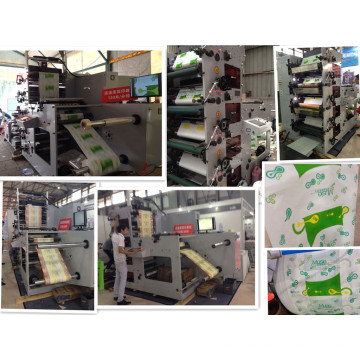 Flexographic Printing Machine for Printing Food Package Paper