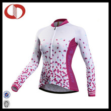 Long Sleeve Last Compression Cycling Jersey for Ladies