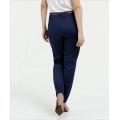 Hot selling ladies slim blue navy color trousers