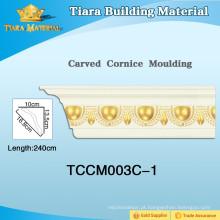Molduras de parede de poliuretano impermeáveis com forma elegante