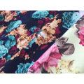 Poliéster Lino Británico Floral Tela de vestir impresa digital