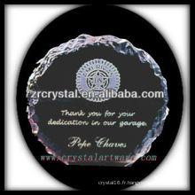 design attrayant blanc trophée de cristal X061