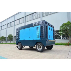 25bar high pressure diesel portable screw air compressor