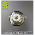 30ml transparent atrovirens essential oil glass bottle with silver press dropper bottle