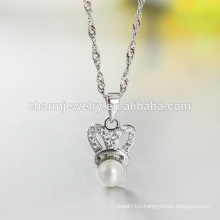 Wholesale 2016 Crystal Pearl 925 Silver Necklace Long Chain Necklace Hot Sell In Western SCR027