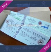 Ticket anti-counterfeiting paper printing