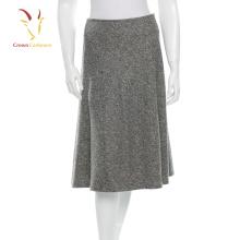 Saia de lápis de cashmere de lã feminina