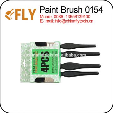 black boiled bristle paint brush set