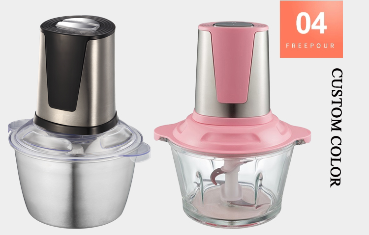 1.8L BPA-Free Glass Bowl Food Chopper for Meat