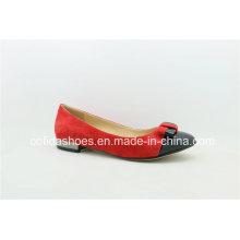 Fashion New Design Sweet Lady Flat Leather Shoes