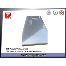 2~15mm Thickness Transparent Plastic ESD PMMA Sheet