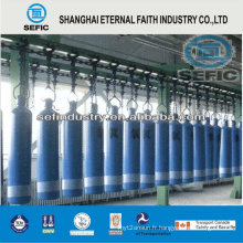Cylindre transparent à l'azote gaz naturel