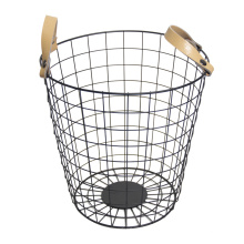 Diseño de lujo de alambre de metal Bin Storage Basket Home