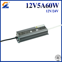 Conducteur imperméable de LED de 24V 2.5A 60W IP67