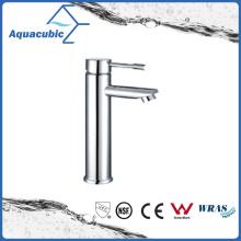 Alto latón de cuerpo cromado solo lavabo del grifo del lavabo del baño (AF6002-6H)