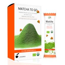 Matcha de catégorie comestible organique, Matcha d'OEM pour aller la petite poche