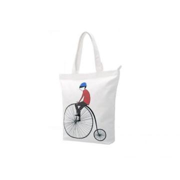 Белая сумка через плечо Bicycle love gift с ручкой