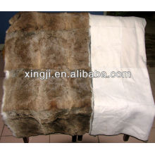 Chinese natural brown color best quality hare rabbit blanket