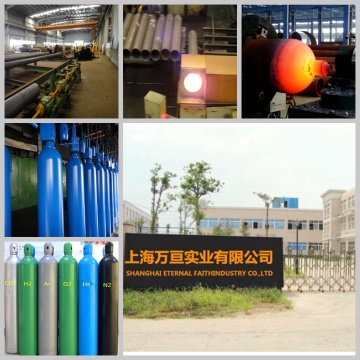 Cylindre de gaz en acier inoxydable à bande standard européen