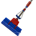 China Household Blue Telescopic Handle Folding Cleaning Sponge PVA Squeeze Mop