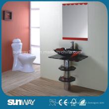 Современный дизайн закаленного стеклянного бассейна с зеркалом