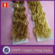 Extensão de cabelo de penas de galo decorativo na moda